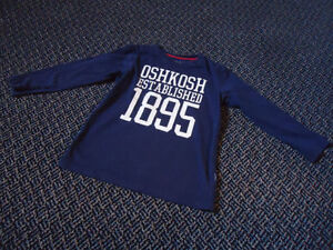 Boys Size 6 Long Sleeve OshKosh B'Gosh Navy T-Shirt