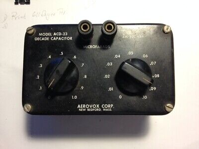 Decade Capacitor Model Acd-23 Scale 0 To 1uf 600 Vdc Max.