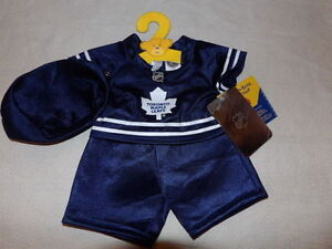 Build A Bear NEW Toronto Maple Leafs Outfit
