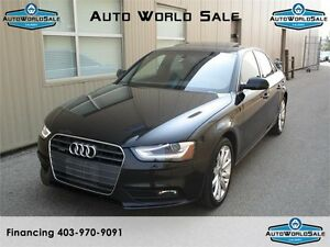 2014 AUDI A4-2.0T QUATTRO-BROWN LEATHER-|PREMIUM