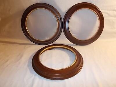 "VANHYGEN & SMYTHE Wooden Wood Brown 8 ½"" Collector Plate Holders"