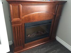 An Electric Fireplace in perfect working condition