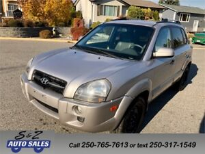 2006 Hyundai Tucson 4WD LEATHER-SUNROOF-LOW KM!