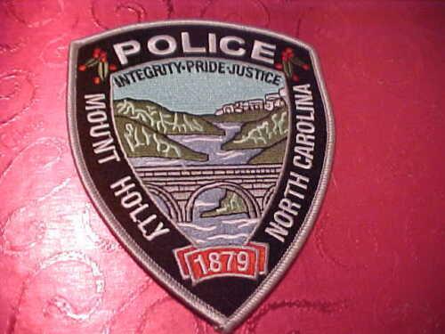 MOUNT HOLLY NORTH CAROLINA POLICE PATCH SHOULDER SIZE UNUSED