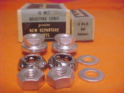 """2 New 5//16/"""" x 26T Axle Nuts for Front Wheel SCHWINN script Hub Bikes"""