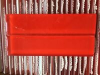 25 red, glass wall tiles - brand new and boxed; in mint condition RRP: over £100