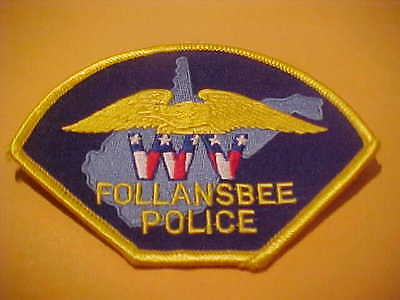 FOLLANSBEE  WEST VIRGINIA  POLICE PATCH SHOULDER SIZE NEW