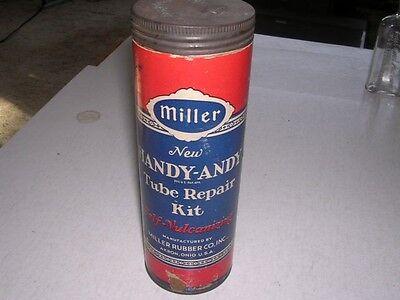 Vintage Miller New Handy-Andy Cardboard Tube Repair Kit Miller Co Akron Ohio