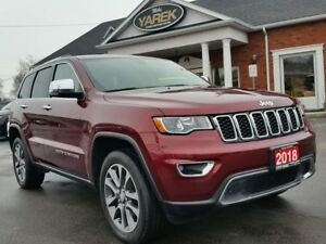 2018 Jeep Grand Cherokee Limited 4x4, NAV, Heated Leather Seats,