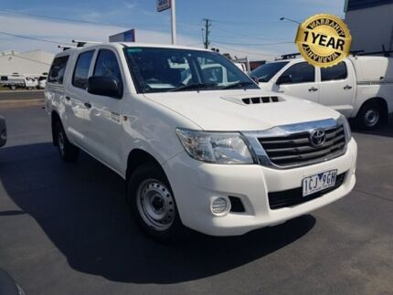 2014 Toyota Hilux KUN16R MY14 SR White 5 Speed Manual Dual Cab Pick-up Canley Vale Fairfield Area Preview