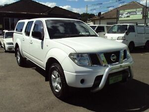 2009 Nissan Navara D40 RX (4x4) White 5 Speed Automatic Dual Cab Pick-up Punchbowl Canterbury Area Preview