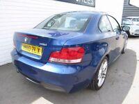 BMW 1 SERIES 2.0 118D M SPORT 2d 141 BHP (blue) 2010