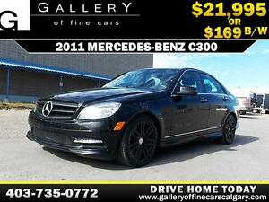 2011 Mercedes C300 4Matic $169 bi-weekly APPLY NOW DRIVE NOW