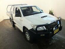 2011 Toyota Hilux KUN26R MY12 SR (4x4) Glacier White 5 Speed Manual Extracab Clemton Park Canterbury Area Preview