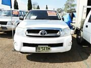 2011 Toyota Hilux GGN15R MY10 SR5 4x2 White 5 Speed Manual Utility Minchinbury Blacktown Area Preview