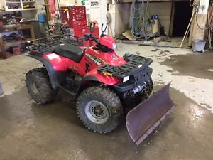 2000 Polaris Sportsman with plow in Peace River