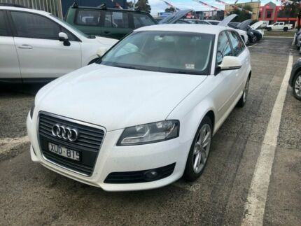 2010 Audi A3 8P MY09 Sportback 1.8 TFSI Ambition White 7 Speed Auto Direct Shift Hatchback Hoppers Crossing Wyndham Area Preview