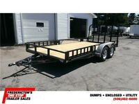 2015 P.J Trailers 7'X16' Tandem Axle  Utility Trailer