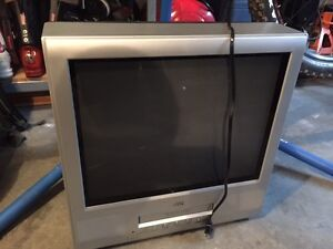 """JVC 21"""" TV with built-in VCR"""
