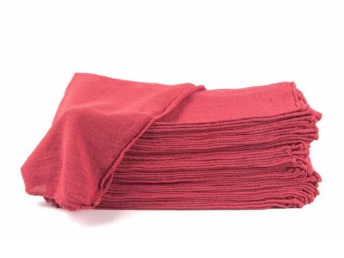 "2500 new great machinery shop rags towels red jumbo 14""X14"""