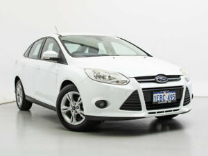 2012 Ford Focus LW MK2 Trend White 6 Speed Automatic Sedan