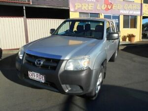 2010 Mazda BT-50 UNY0W3 DX 4x2 Silver 5 Speed Manual Dual Cab Waterford Logan Area Preview