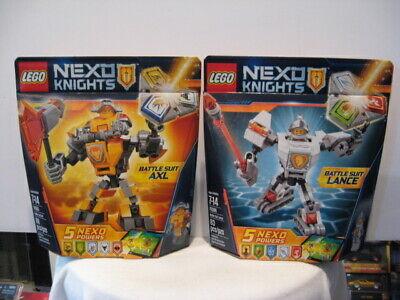 LEGO NEXO KNIGHTS #70366 BATTLE SUIT LANCE 83 PCS & #70365 BATTLE SUIT AXL