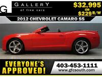 2012 CAMARO SS CONVERTIBLE  *EVERYONE APPROVED* $0 DOWN $229/BW!