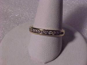 #3526-VERY NICE 10k Yellow gold Diamond W/B  Size 5 1/2-appraised $1,550.00 Sell $475.00 Free s/h in Canada Interac