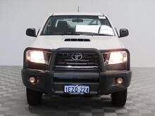 2012 Toyota Hilux KUN26R MY12 SR (4x4) White 5 Speed Manual Dual Cab Chassis Hillman Rockingham Area Preview