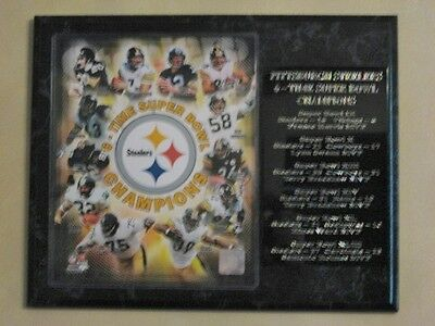 Pittsburgh Steelers 6x Super Bowl Champs plaque - New Lower Pricing!!