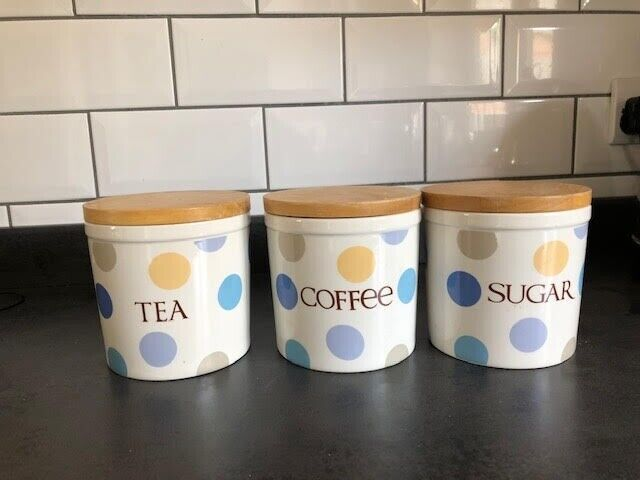 Tea Coffee And Sugar Dotty By Linea Storage Jars In St Albans Hertfordshire Gumtree