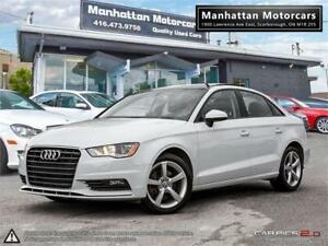 2015 AUDI A3 1.8T KOMFORT AUTO |PANO|LEATHER|PHONE|1OWNER|47KM