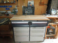 """Craftsman 10"""" Deluxe Electronic Radial Saw. w Cabinet"""