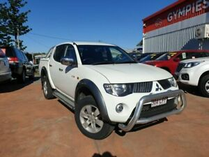 2008 Mitsubishi Triton ML MY08 GLX-R Double Cab White 5 Speed Manual Utility Gympie Gympie Area Preview