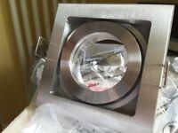 Halogen Light Boxed Low Voltage Downlight & Fixed Terminal Bracket 12V MR16 50W Halogen Satin Nickel