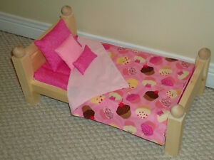 "Custom made - Solid Wood Doll Beds for 18"" dolls"