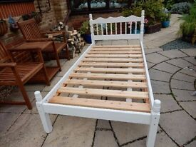 Solid Pine 3' Shabby Chic Bed Frame Painted in Annie Sloane Chalk Paint