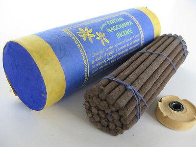 Tibetan Nag Champa Incense ~ fresh aroma natural incense sticks with burner