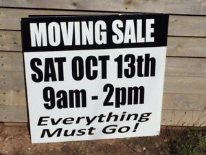 Moving Sale-Yard Sale