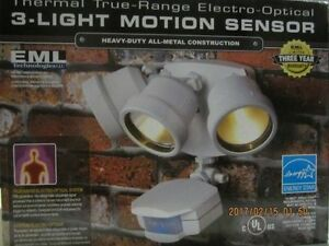 Thermal True-Range Electro-Optical 3-Light Motion sensor
