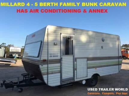 4 - 5 BERTH FAMILY BUNK FULL CARAVAN WITH AIR CONDITIONING/ ANNEX