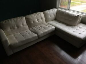 WHITE / CREAM SECTIONAL