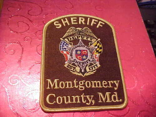 MONTGOMERY COUNTY MARYLAND POLICE PATCH SHOULDER SIZE UNUSED