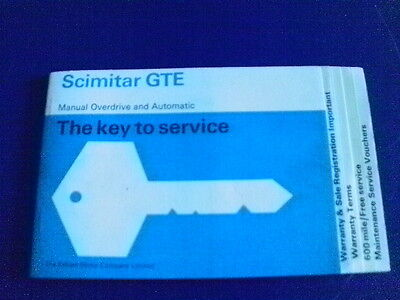 RELIANT SCIMITAR GTE SERVICE BOOK
