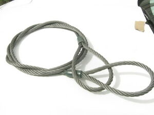 "3/4"" x 16' Swaged Eye Steel Cable Sling, Strap, Choker NEW"
