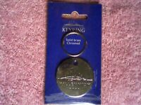 COLLECTORS OFFICIAL MILLENNIUM DOME (O2 ARENA) SOLID BRASS CHROME KEY RING - NEW & UNUSED