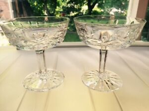Waterford Crystal Sherbet/Champagne. 'Lismore'. Set of 5