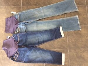 Maternity OLD NAVY JEANS AND CAPRIS BRAND NEW SZ 2
