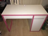 Ikea Micke Desk in White and Pink